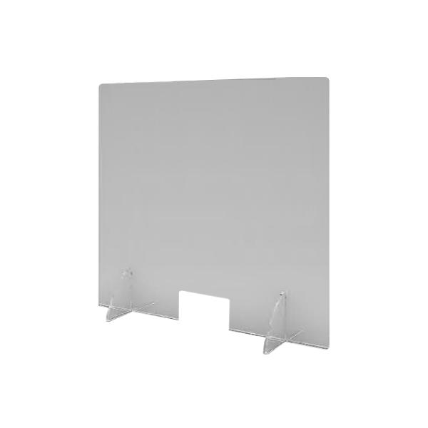 Parafiato da tavolo in PETG con base in plastica - L.50 x H.80 cm