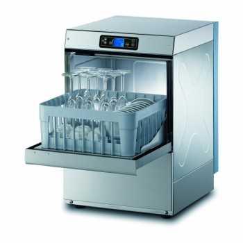 Lavabicchieri elettronica H.66 cm - Cesto quadrato 35x35 cm - Altezza max bicchiere 24 cm - Dosatori detergente e brillantante installati di serie