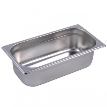 BACINELLE GASTRONORM ACCIAIO INOX AISI 304 GN 1/3 (32