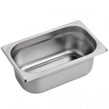BACINELLE GASTRONORM ACCIAIO INOX AISI 304 GN 1/4 (26