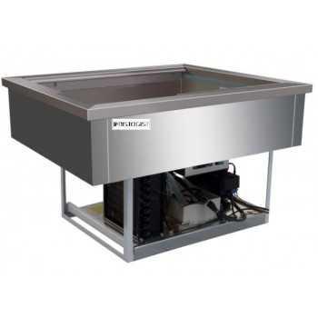 VASCA INOX REFRIGERATA DA INCASSO ( - 5 / +5 °C) - 4 VASCHE GN 1/1