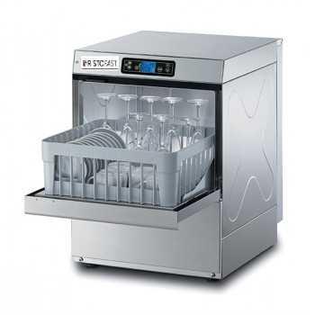 Lavabicchieri elettronica ECO H.66 cm - Cesto 40x40 cm - Altezza max bicchiere 24 cm / piatto 26