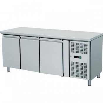 Banco refrigerato ventilato in acciaio GN 1/1 - 3 porte