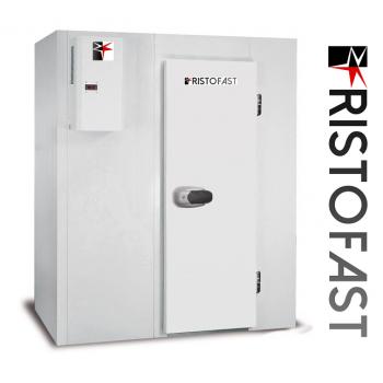Cella frigorifera positiva (0/+5°C) con motore monoblocco accavallato e pavimento - Larghezza 194 cm