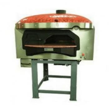 Forno a legna a base rotante con camera di cottura a cupola e camera di combustione separata