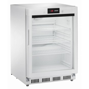 Espositore refrigerato statico digitale positivo +2 +8°C 140LT Con porta a vetri