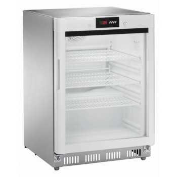 Armadio refrigerato statico digitale positivo 0 +8°C 140LT Acciaio Inox + porta a vetri