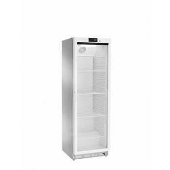 Armadio refrigerato statico digitale positivo 0 +8°C 360LT Acciaio Inox + porta a vetri
