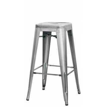 SGABELLO Struttura in metallo zincato e vernice trasparente. Mod. 1071