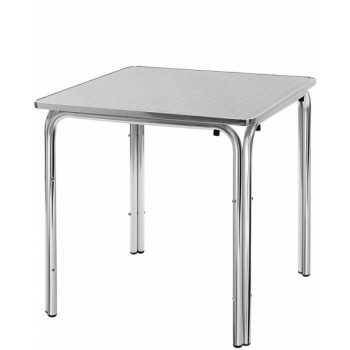 TAVOLO quadrato struttura in alluminio