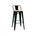 Sgabello in metallo verniciato con seduta in legno Modello 1083
