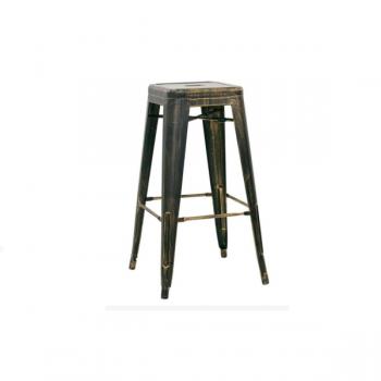 Sgabello in metallo verniciato effetto anticato Modello 1061