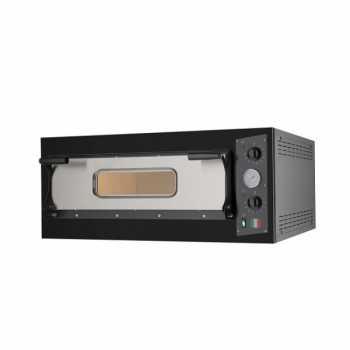 Forno Pizza Elettrico 1 Camera - Controllo Meccanico - Linea BLACK