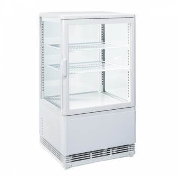 Espositore refrigerato con vetro su 4 lati 58 litri - L.43 x P.39 x H.81 cm