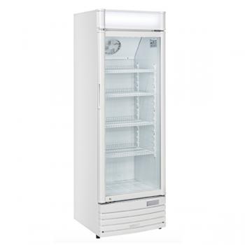 Vetrina refrigerata per bevande 350 litri con opalina pubblicitaria - L.60 x P.57 x H.183