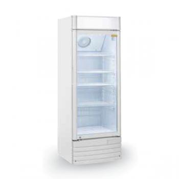 Vetrina refrigerata per bevande 300 litri con opalina pubblicitaria - L.52