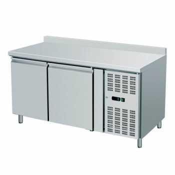 Tavolo congelatore 2 porte con alzatina - L.136 x P.70 x H.96 cm
