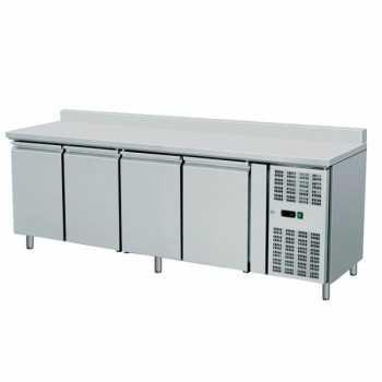 Tavolo congelatore 4 porte con alzatina - L.223 x P.70 x H.96 cm