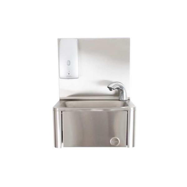 Lavamani automatico con rubinetto e distributore sapone gel elettronici
