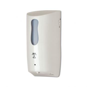 Dosatore di sapone e gel igienizzante automatico in ABS bianco 1 litro