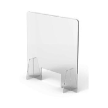 Divisorio in plexiglass trasparente con foro