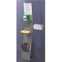 Colonna igienizzante per dispenser gel in acciaio inox - L.28 x P.29 x H.112 cm