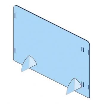 Pannello protettivo in plexiglass trasparente modulare per tavoli - L.100 x H.66 cm