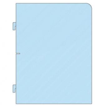 Separatore laterale in plexiglass trasparente - L.50 x P.65 cm